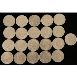 21 Eisenhower Silver Dollars