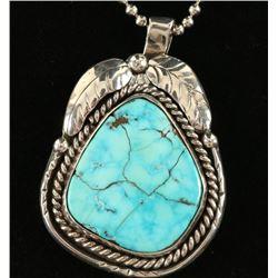 Lone Mountain Turquoise Pendant