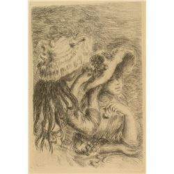 """Etching by Renoir """"Le Chapeau Epingle"""""""