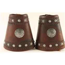 Pair of Tooled Cowboy Cuffs