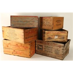 Lot of 6 Wood Crates