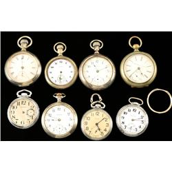 Lot of 8 Pocket Watches