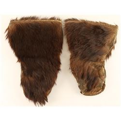 Pair of Buffalo Hide Mittens