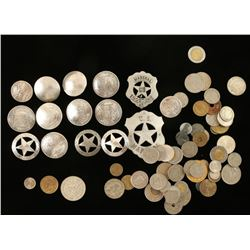 Lot of Coins & Conchos