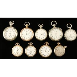Lot of 9 Pocket Watches