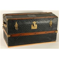 Vintage Pressed Tin Trunk