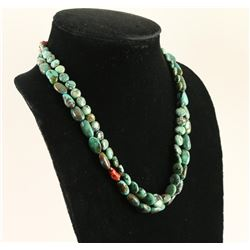 2 Single Strand Chinese Turquoise Necklaces