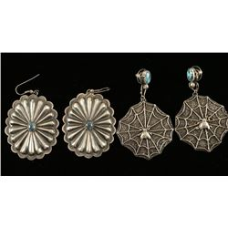 Two Pairs of Native American Earrings