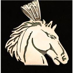 Sterling Horsehead Pendant