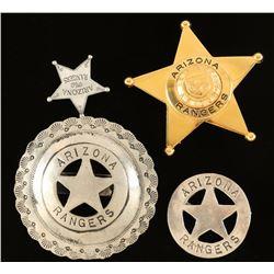 Lot of 4 Arizona Ranger Badges