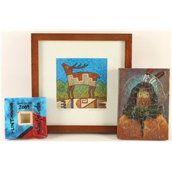 Lot of 3 Indian Art Pieces