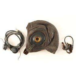 WWII Leather Aviator Helmet