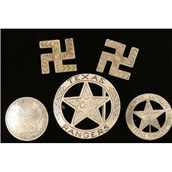 Lot of Badges & Conchos