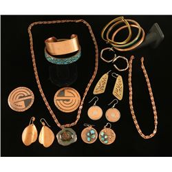 Copper Colored Jewelry Lot