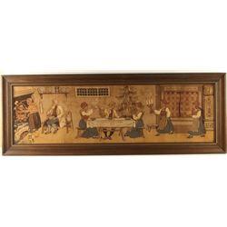 Primitive Framed Tapestry