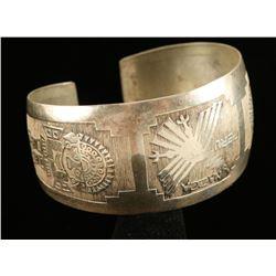 Peruvian Sterling Cuff Bracelet