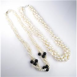 Two Lots of Beautiful Ladies Stranded Pearls