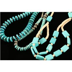 Lot of 3 Turquoise Necklaces