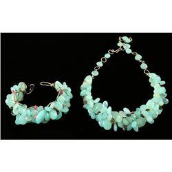 Mint Green Necklace & Bracelet Set