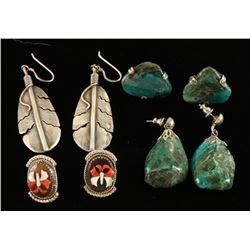 Lot of 4 Native American Earring Sets