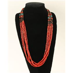Five Strand Coral Necklace