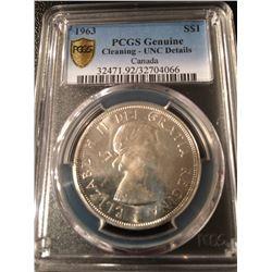 1963 Canada Dollar PCGS UNC Details