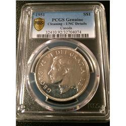 1951 Canada Dollar PCGS UNC Details