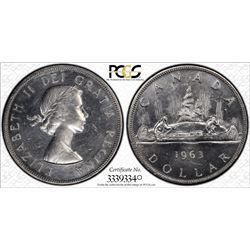 1963 S$1 PCGS UNC Details Cert# 33393340