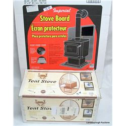TENT STOVE AND STOVE BOARD