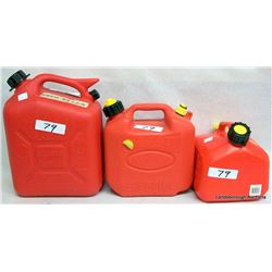 GAS CANS AND OIL FUNNELS