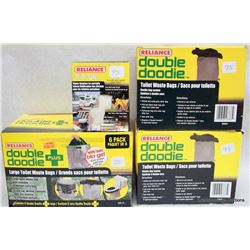 RELIANCE DOUBLE DOODIE TOILET WASTE BAGS