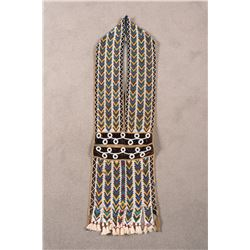 "Ojibwa Loom-Beaded Bandolier Bag, 41"" long"