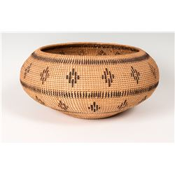 "Washoe Coiled Basket, 7 ¼"" x 15 ½"""
