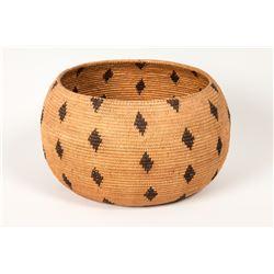 """Chemehuevi Coiled Basket, 5"""" x 8 ½"""""""