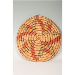 Hopi Coiled Basketry Tray, 20 ½""