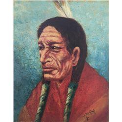 Emil Lenders, oil on canvasboard