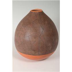 """Hopi Pueblo Jar by Les and Jocelyn Namingha, 10 ½"""" x 9 ½"""""""