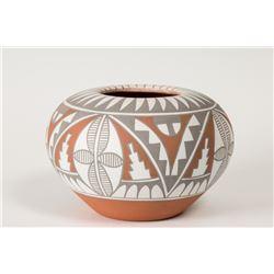 """Jemez Pueblo Pot by Mary Small, 4"""" x 7"""""""
