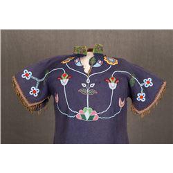 "Crow Beaded Woman's Dress, 48"" x 31"""