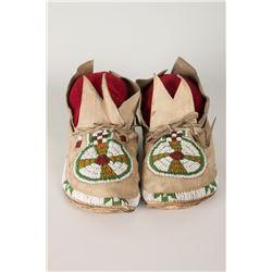 "Cheyenne Beaded Women's Moccasins, 9 ½"" long"