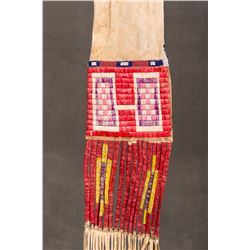 """Sioux Quilled and Beaded Pipebag,  15"""" long"""