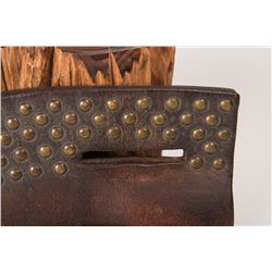 Blackfeet Harness Leather Tacked Knife Case and Knife