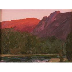 Len Chmiel, oil on canvasboard