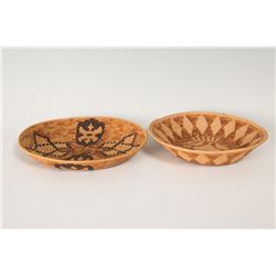Two Mission Basketry Trays