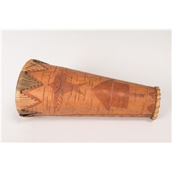 Three Ojibwa Birch Bark Moose Calls