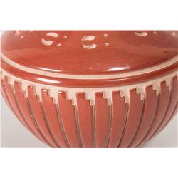 """Santa Clara Pueblo Pot by Linda Tafoya, 4 ½"""" x 6"""""""