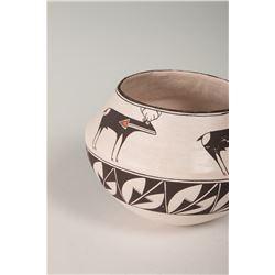 """Acoma Pueblo Pot by Emma Lewis, 5"""" x 8"""""""