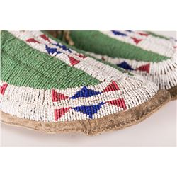 Sioux Beaded Man's Moccasins, 10 ½