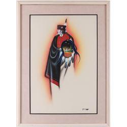 Robert Redbird, Sr., watercolor and gouache