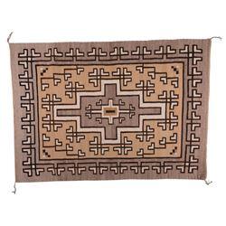 "Navajo Weaving, 4'7"" x 3'3""."